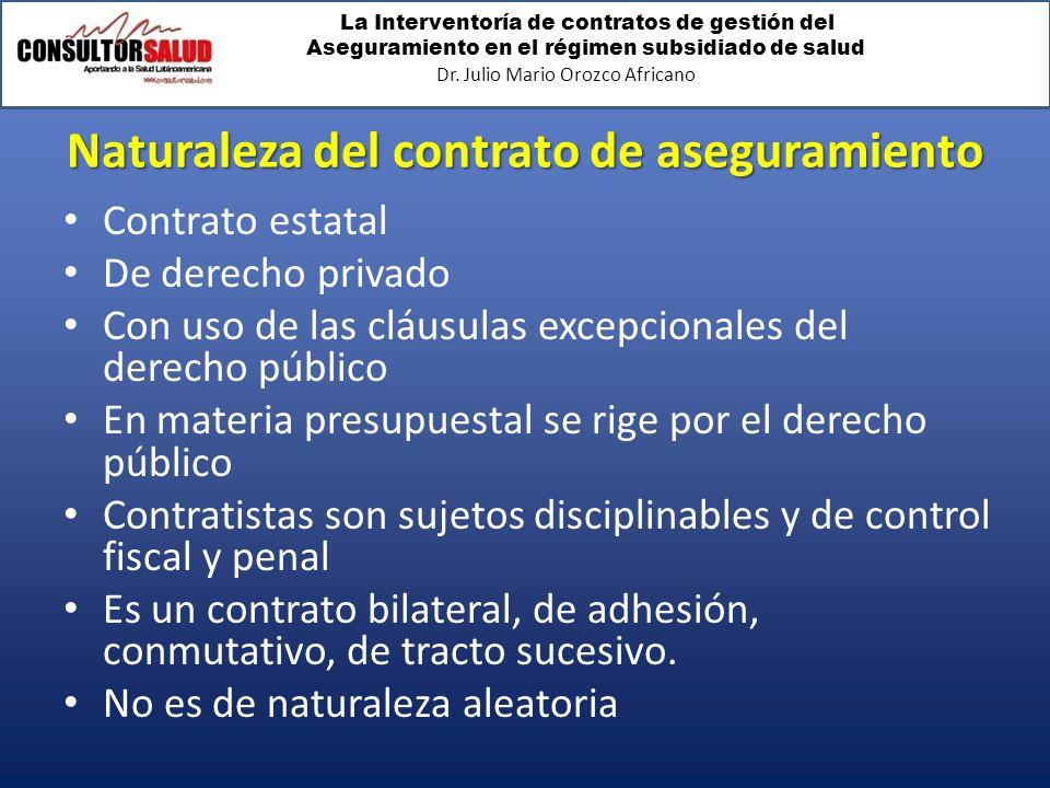 Naturaleza del contrato de aseguramiento
