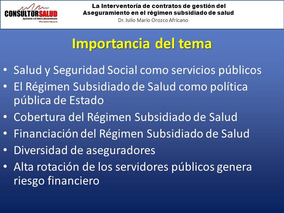 Importancia del tema Salud y Seguridad Social como servicios públicos