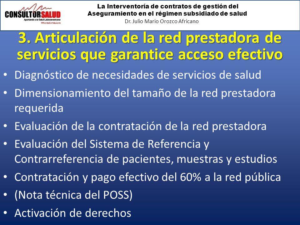 3. Articulación de la red prestadora de servicios que garantice acceso efectivo