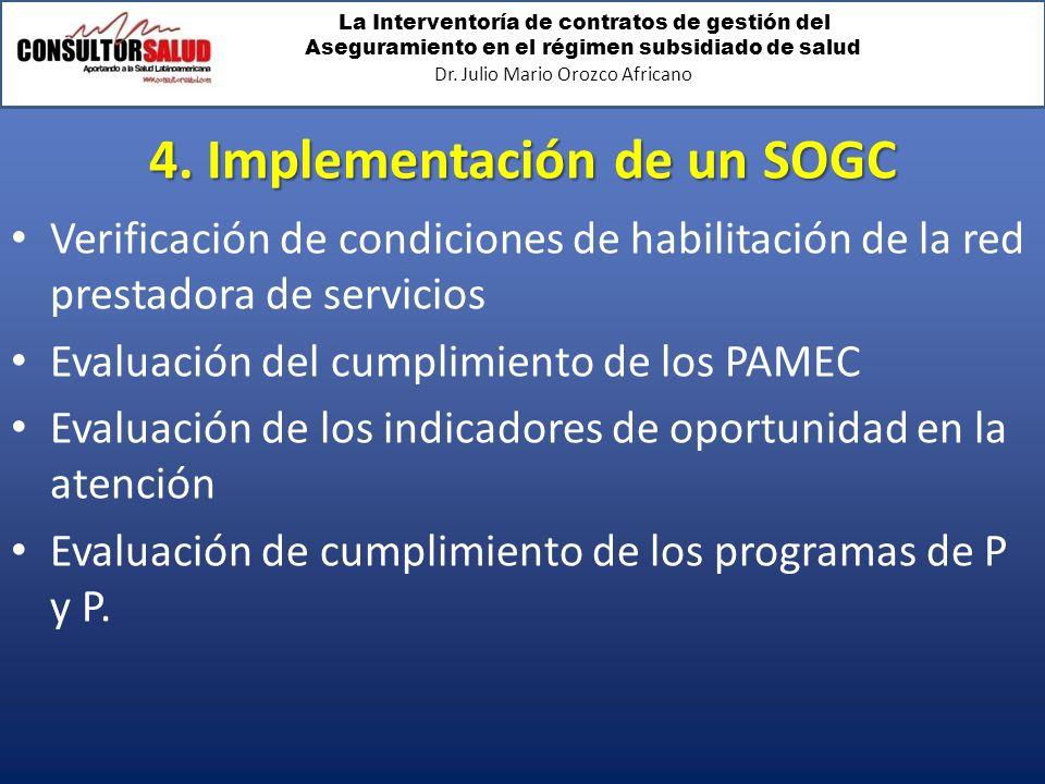 4. Implementación de un SOGC