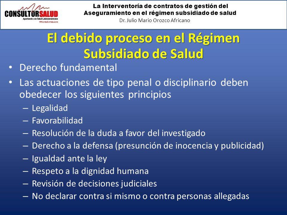 El debido proceso en el Régimen Subsidiado de Salud