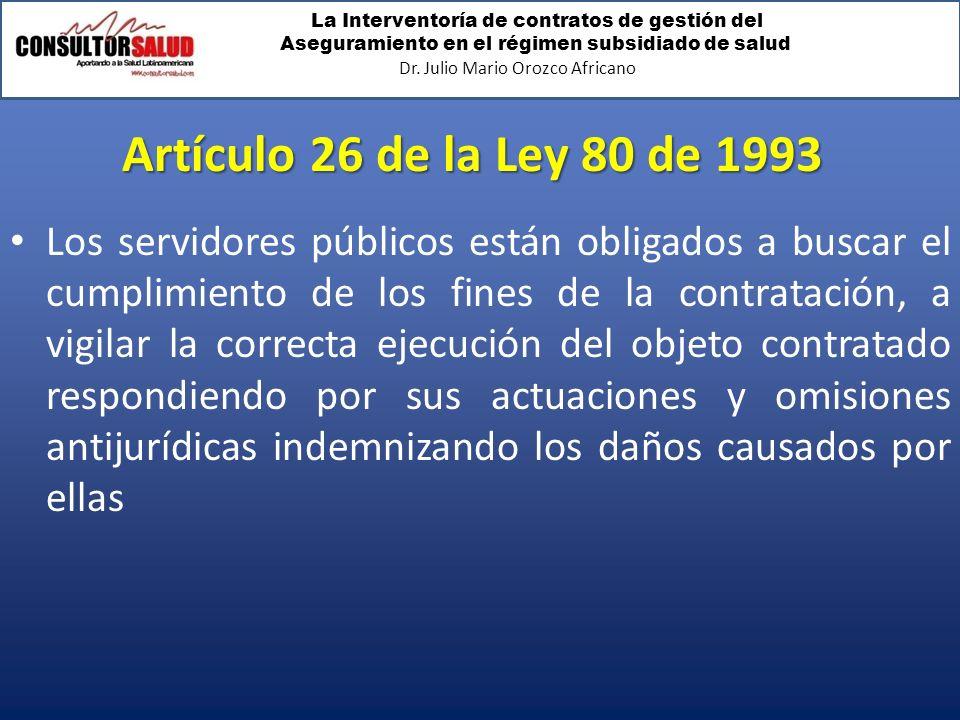 Artículo 26 de la Ley 80 de 1993