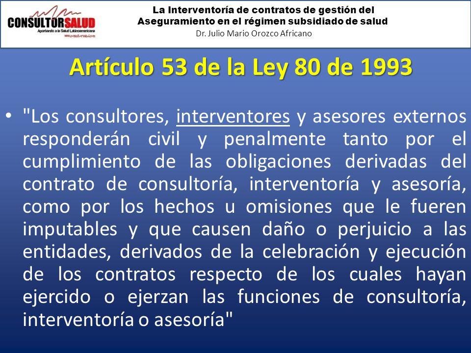 Artículo 53 de la Ley 80 de 1993