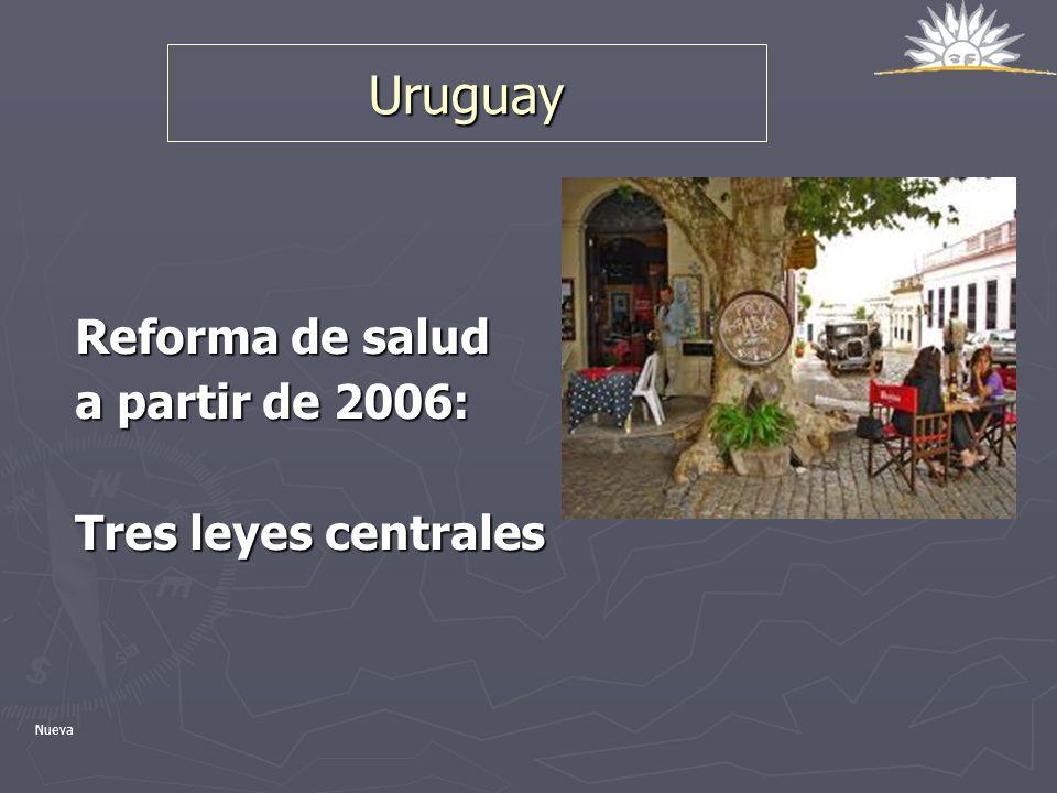 Uruguay Reforma de salud a partir de 2006: Tres leyes centrales Nueva