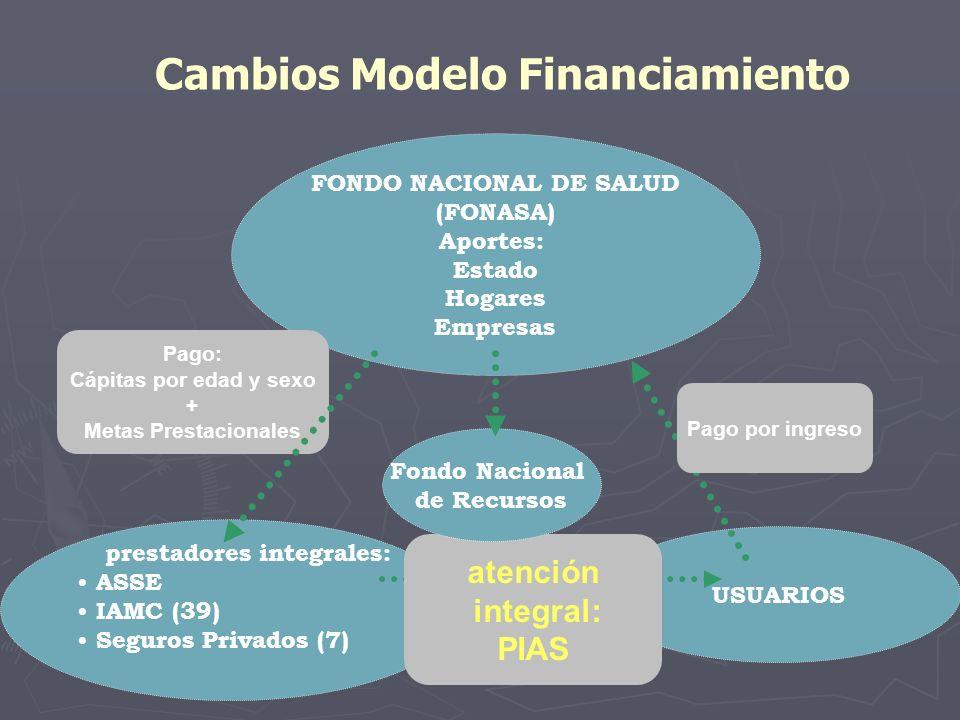 Cambios Modelo Financiamiento FONDO NACIONAL DE SALUD