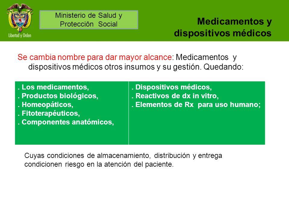Medicamentos y dispositivos médicos