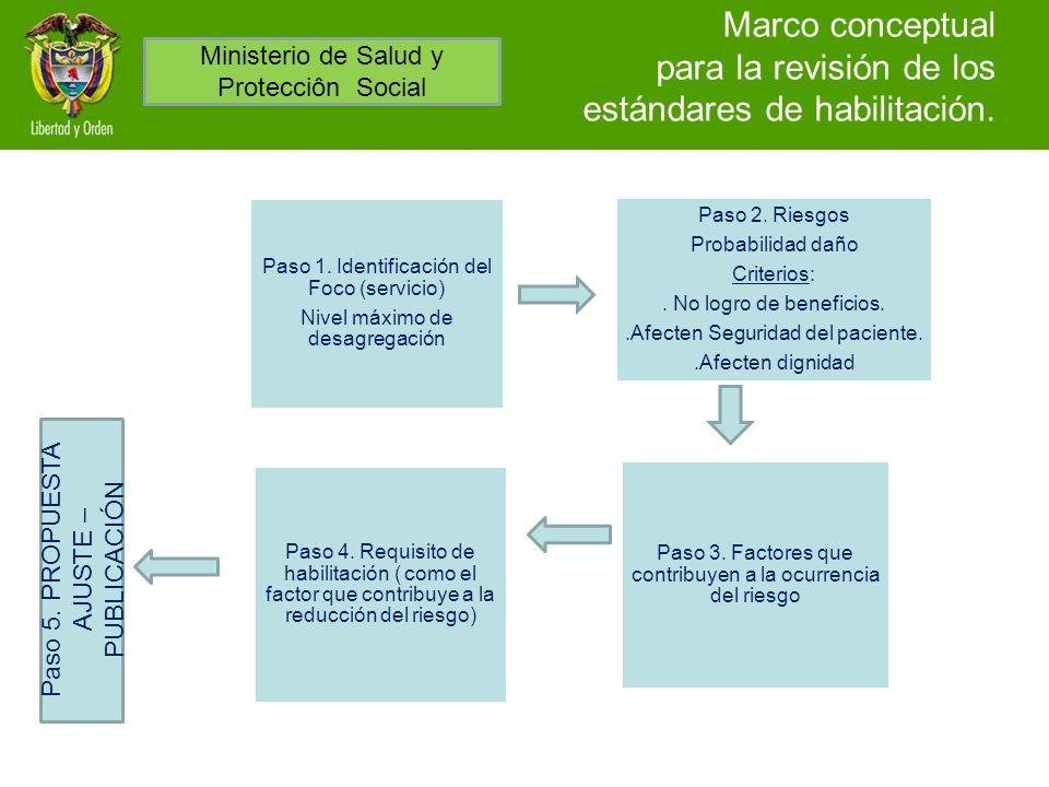 Marco conceptual para la revisión de los estándares de habilitación.