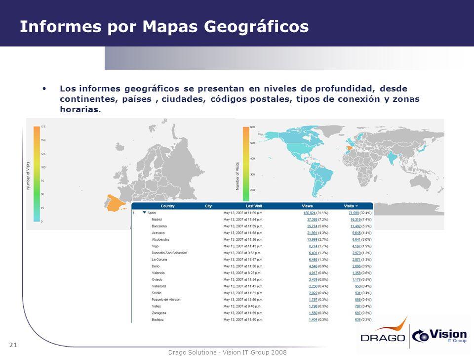Informes por Mapas Geográficos