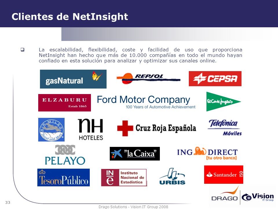 Clientes de NetInsight