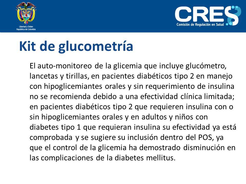 Kit de glucometría