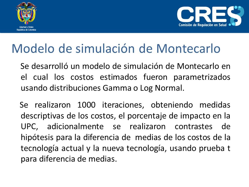 Modelo de simulación de Montecarlo