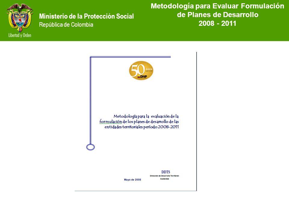 MetodoIogía para Evaluar Formulación de Planes de Desarrollo