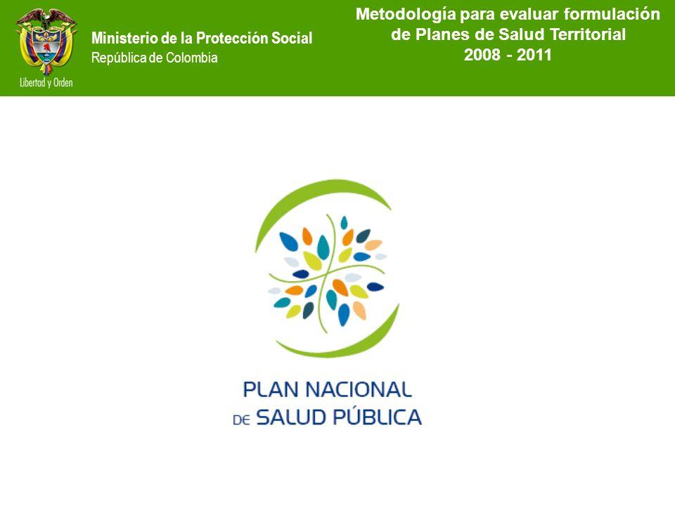 MetodoIogía para evaluar formulación de Planes de Salud Territorial
