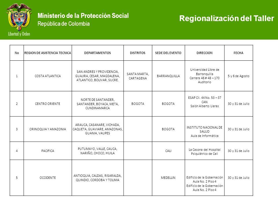 REGION DE ASISTENCIA TECNICA