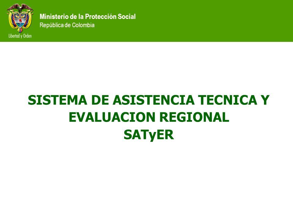 SISTEMA DE ASISTENCIA TECNICA Y EVALUACION REGIONAL SATyER