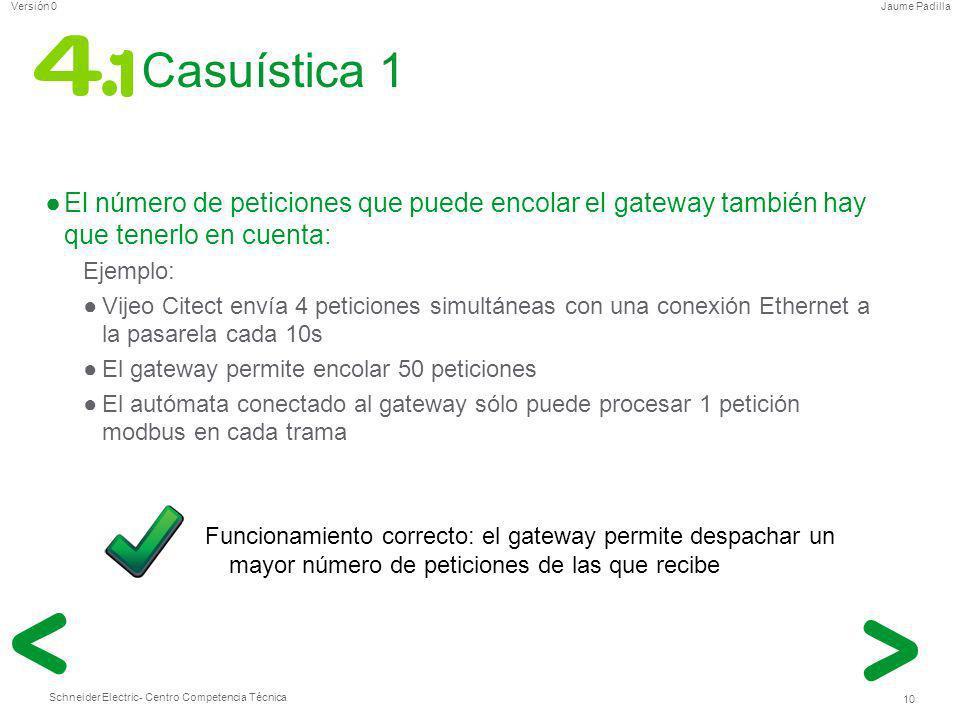 Casuística 1 El número de peticiones que puede encolar el gateway también hay que tenerlo en cuenta: