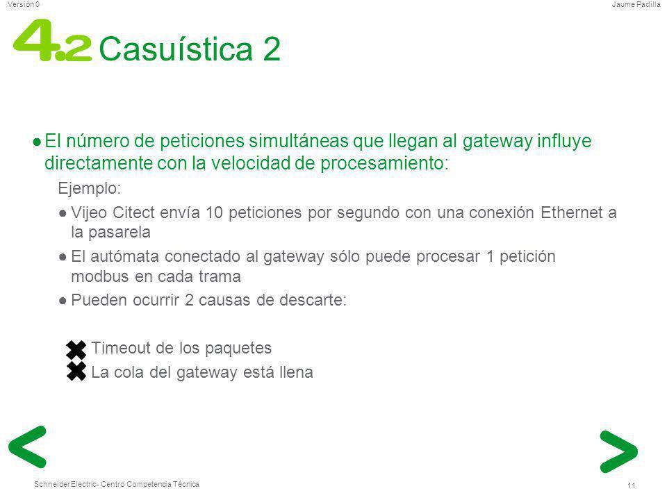 Casuística 2 El número de peticiones simultáneas que llegan al gateway influye directamente con la velocidad de procesamiento: