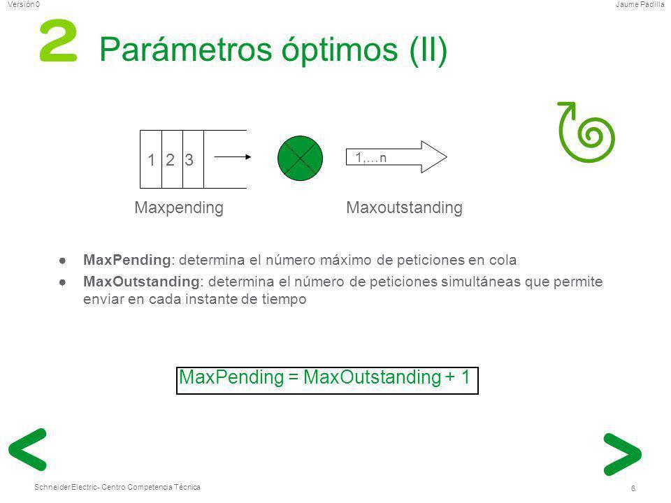 Parámetros óptimos (II)
