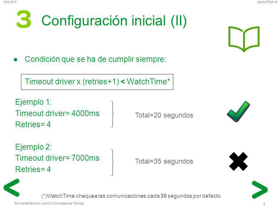 Configuración inicial (II)