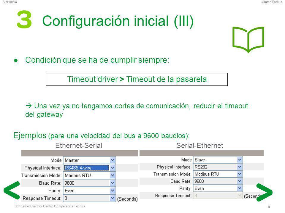 Configuración inicial (III)