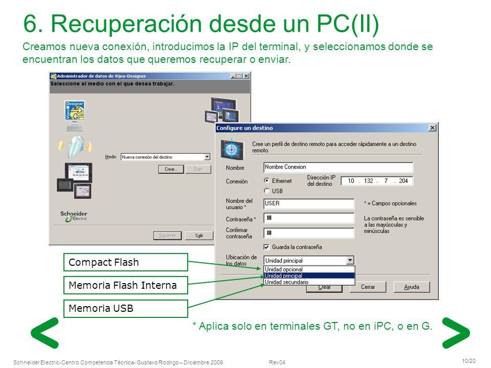 6. Recuperación desde un PC(II)