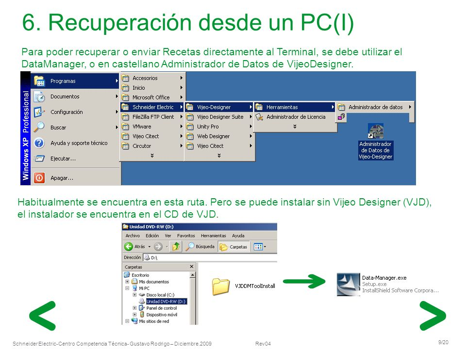 6. Recuperación desde un PC(I)