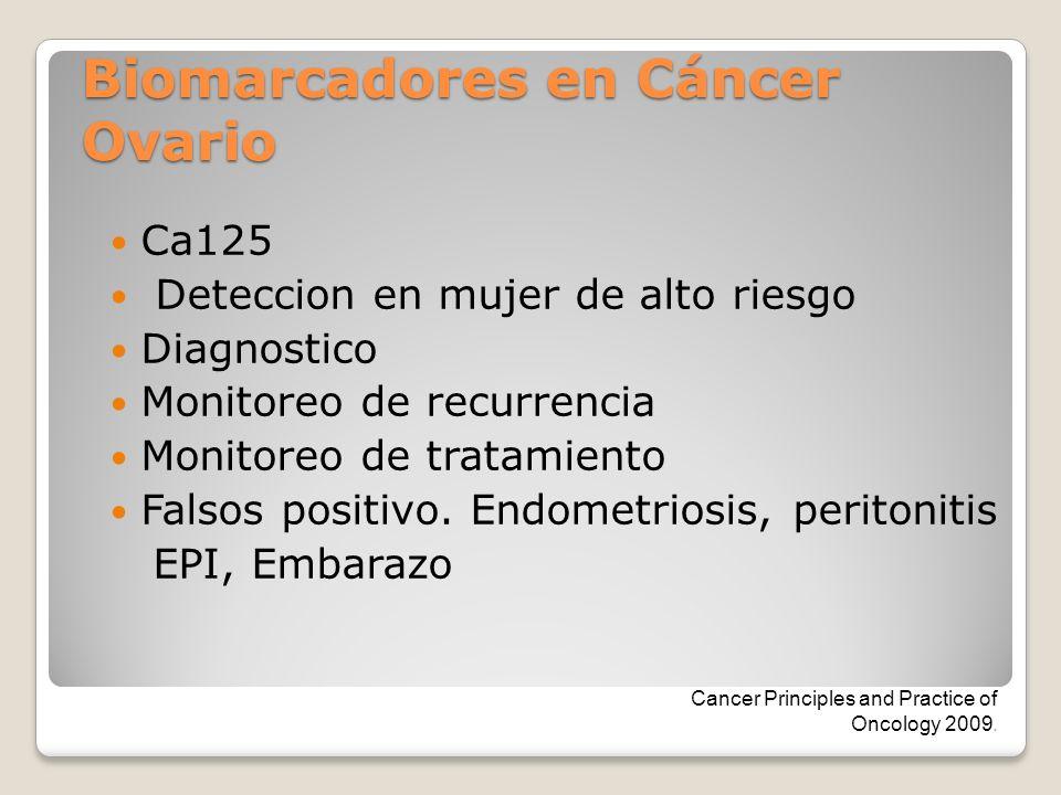 Biomarcadores en Cáncer Ovario