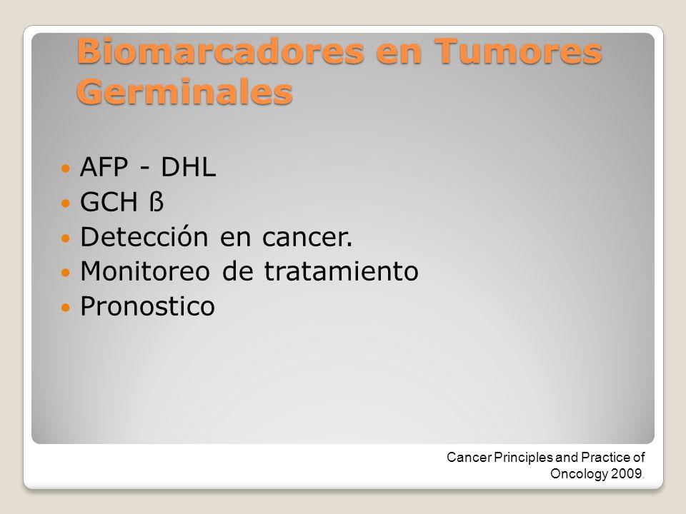 Biomarcadores en Tumores Germinales