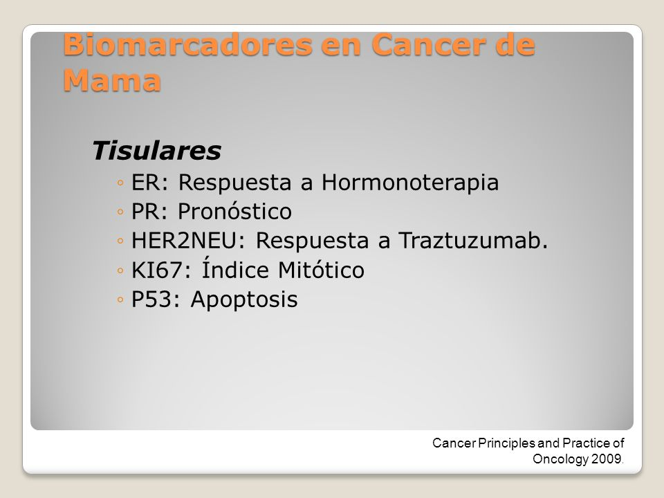 Biomarcadores en Cancer de Mama