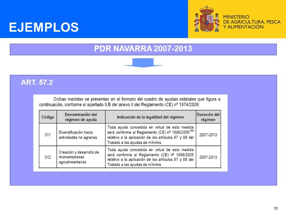 EJEMPLOS PDR NAVARRA 2007-2013 ART. 57.2