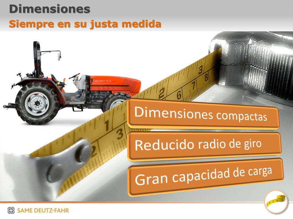 Dimensiones Siempre en su justa medida Dimensiones compactas