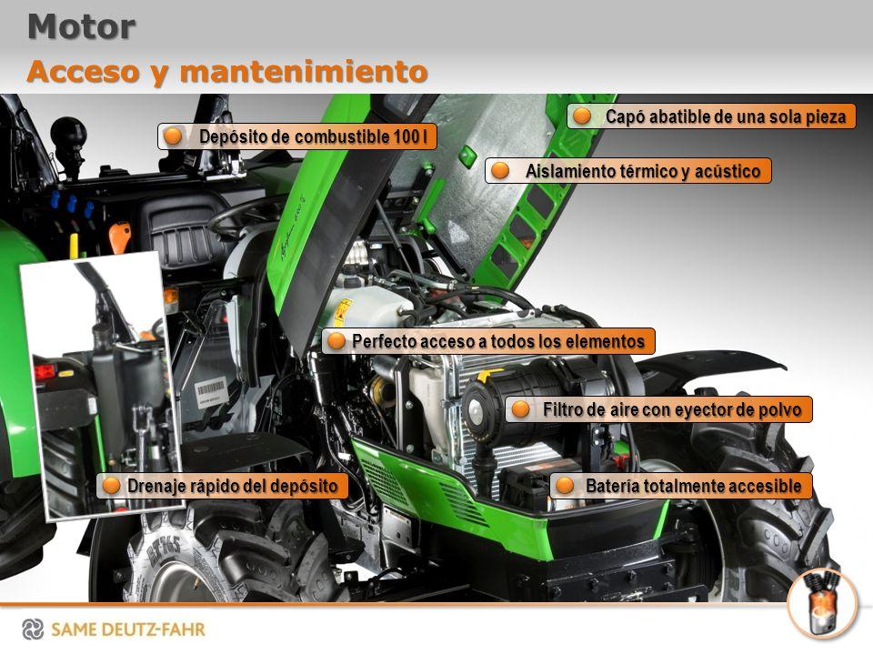 Motor Acceso y mantenimiento Capó abatible de una sola pieza