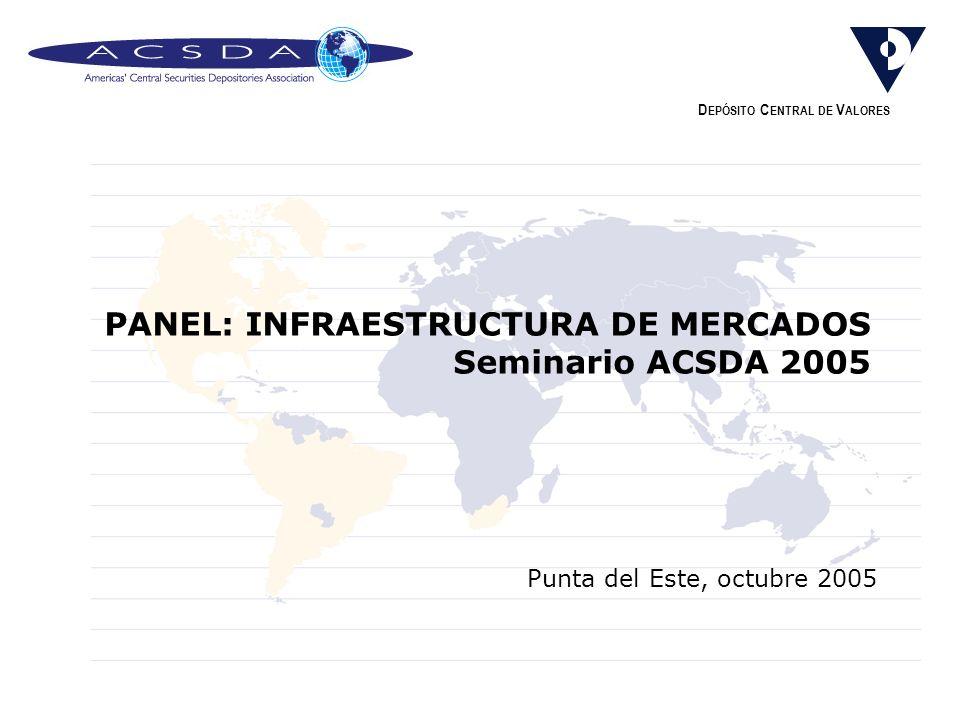 PANEL: INFRAESTRUCTURA DE MERCADOS Seminario ACSDA 2005