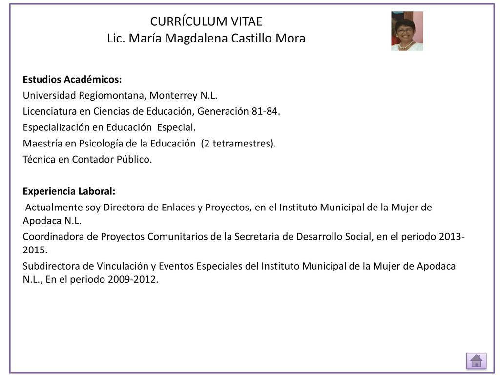 Vistoso Curriculum Vitae Actualmente En La Universidad Ideas ...