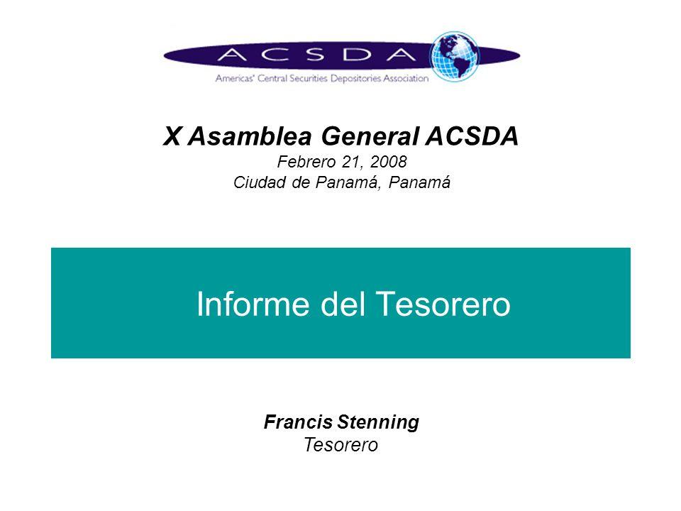 X Asamblea General ACSDA