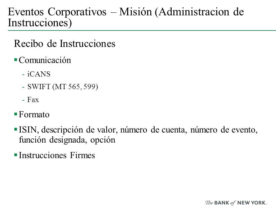 Eventos Corporativos – Misión (Administracion de Instrucciones)