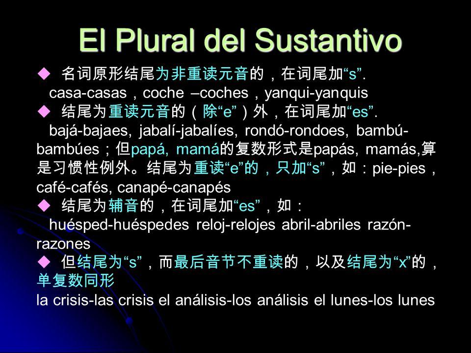 El Plural del Sustantivo