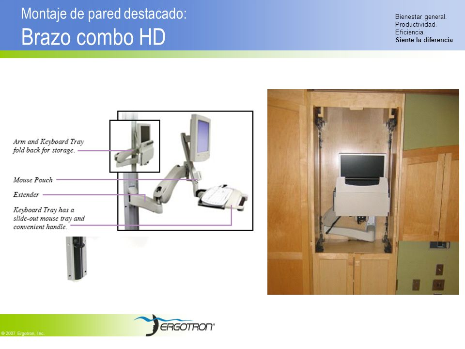 Montaje de pared destacado: Brazo combo HD