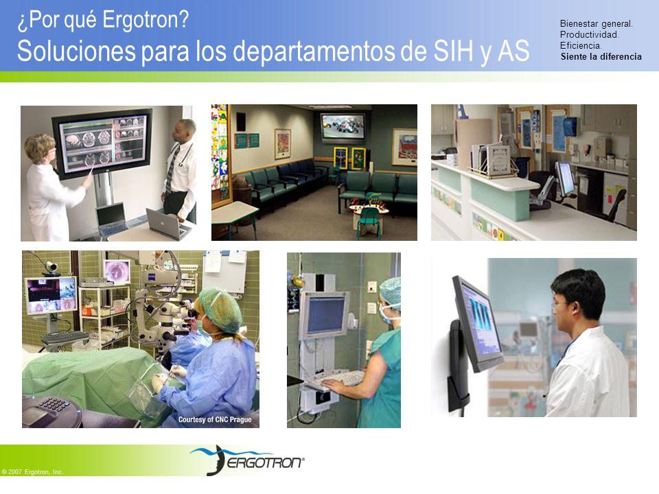 ¿Por qué Ergotron Soluciones para los departamentos de SIH y AS