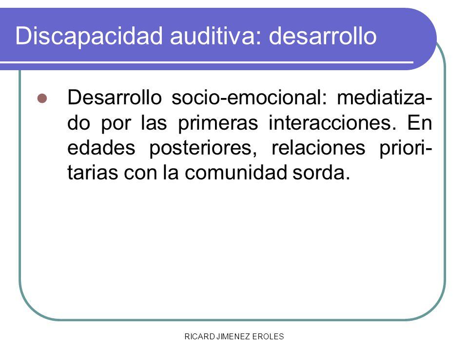 Discapacidad auditiva: desarrollo