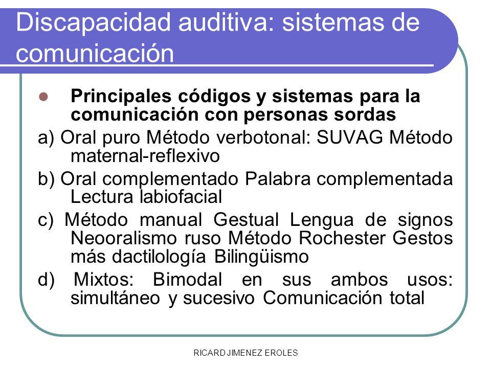 Discapacidad auditiva: sistemas de comunicación
