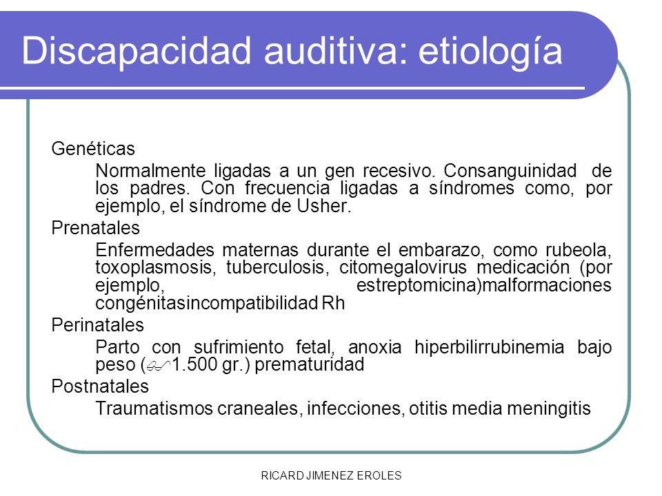 Discapacidad auditiva: etiología