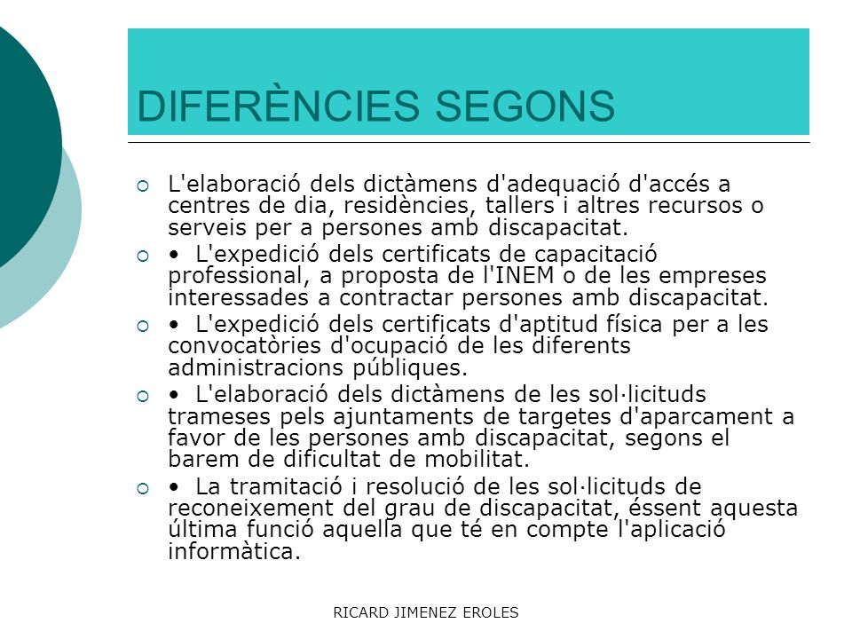 DIFERÈNCIES SEGONS