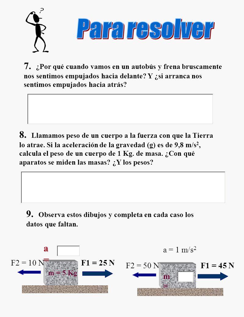 Para resolver ejercicios 7 - 9