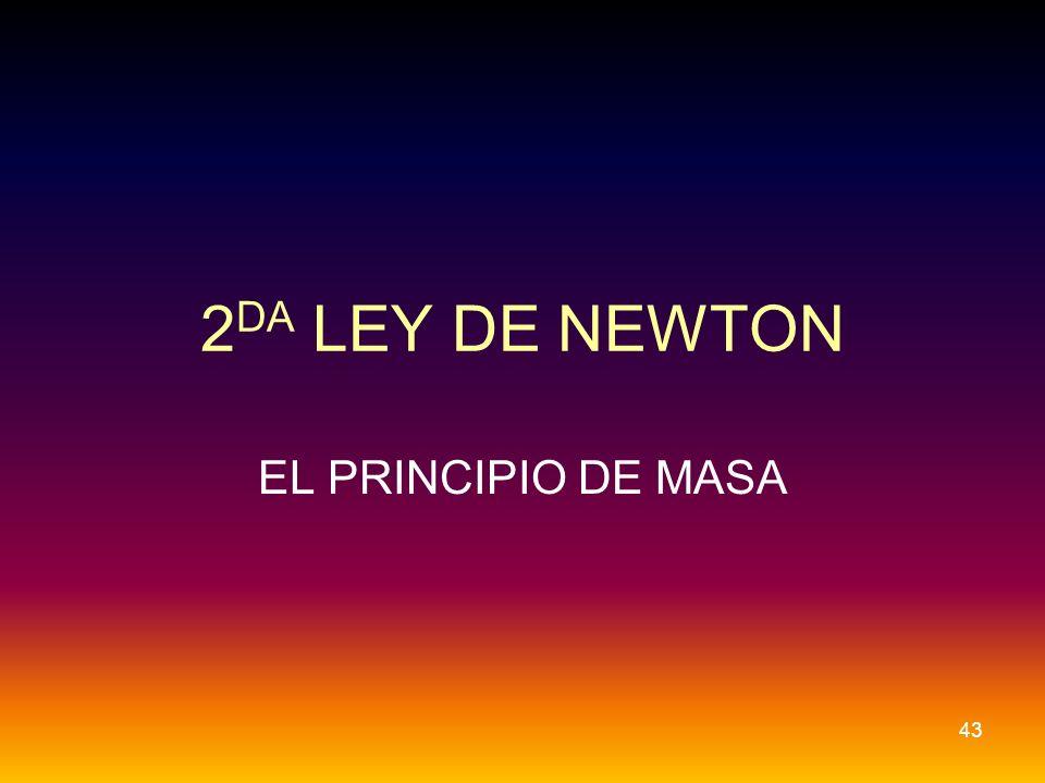 2DA LEY DE NEWTON EL PRINCIPIO DE MASA