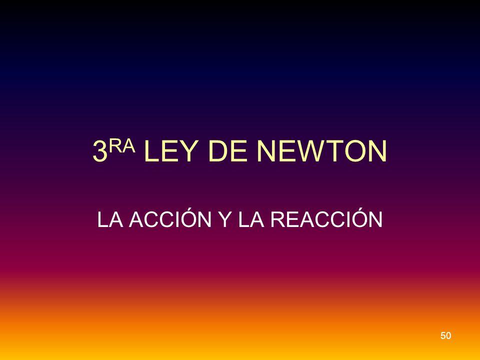3RA LEY DE NEWTON LA ACCIÓN Y LA REACCIÓN