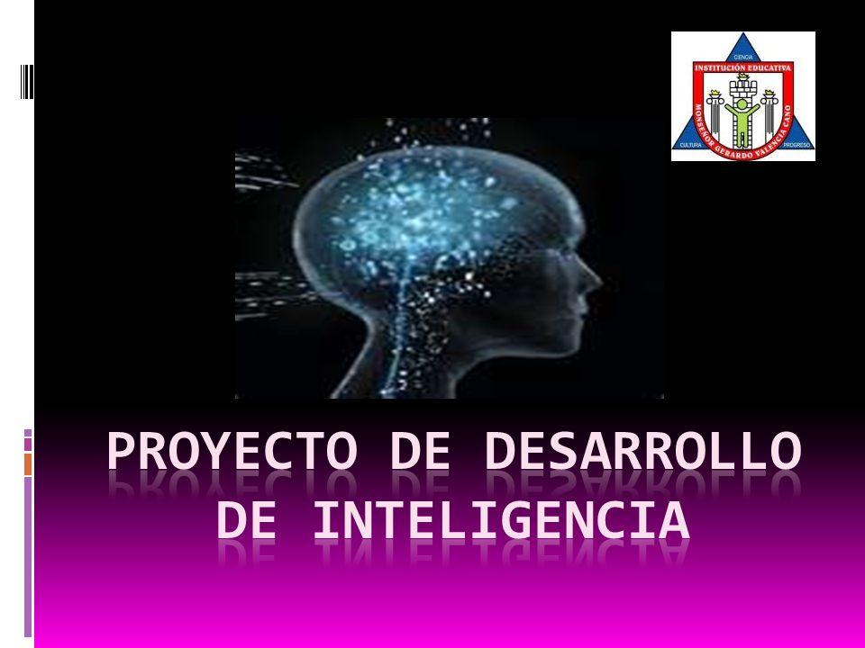Proyecto de desarrollo de inteligencia