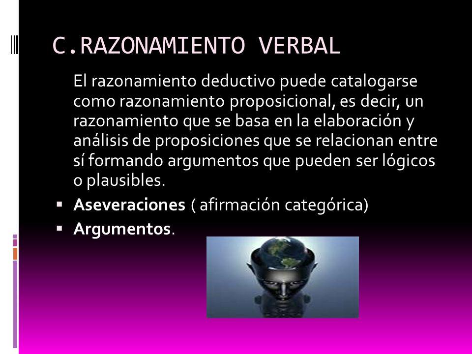 C.RAZONAMIENTO VERBAL