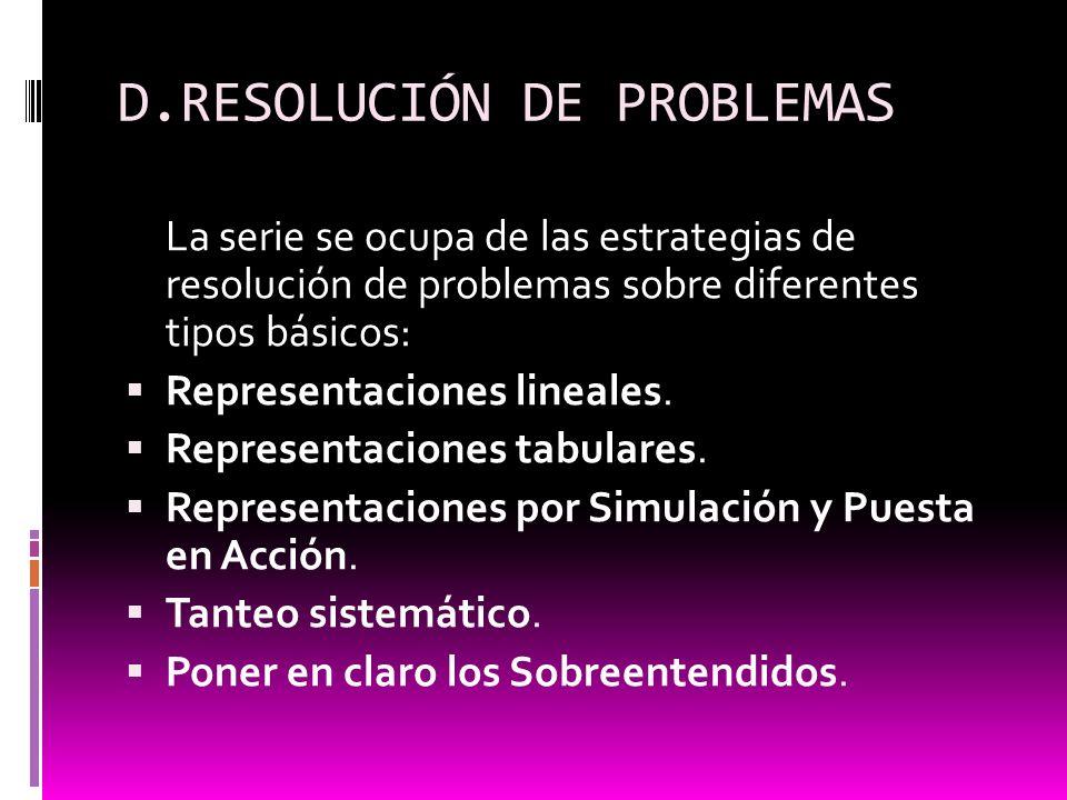 D.RESOLUCIÓN DE PROBLEMAS
