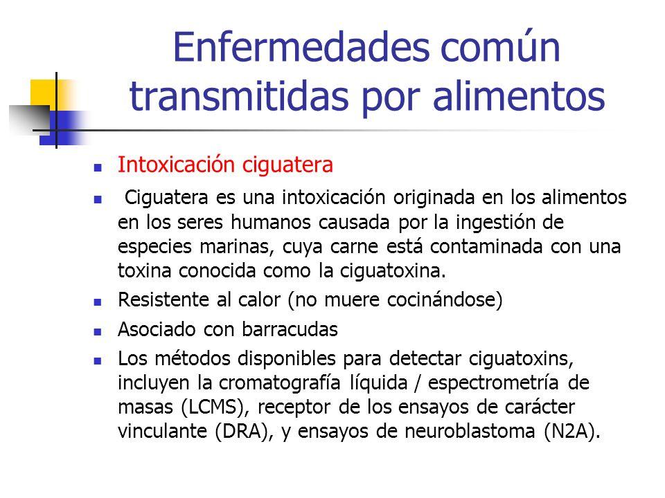 Enfermedades común transmitidas por alimentos